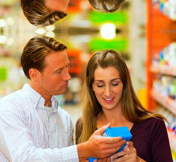 couple reading prescription of a medicine